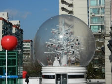 A Giant Snowglobe at Gangnam