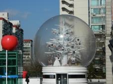 A Giant Snowglobe at Gangnam