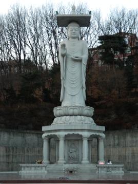 A Statue of Buddha at Bongeunsa Temple