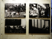 B&W Photos in the Berlin Cafe in Hongdae